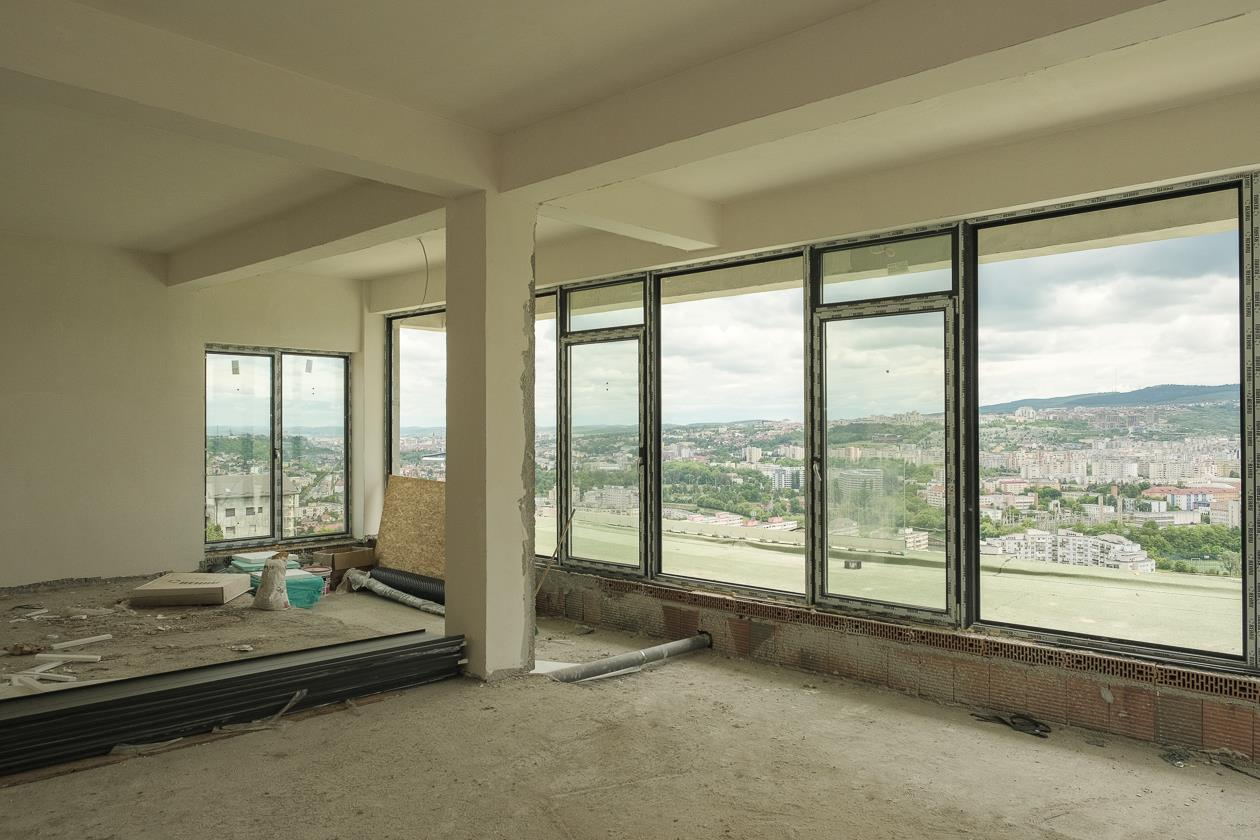 Penthouse,Panoramic city view  ,150 mp, parcare, COMISION 0
