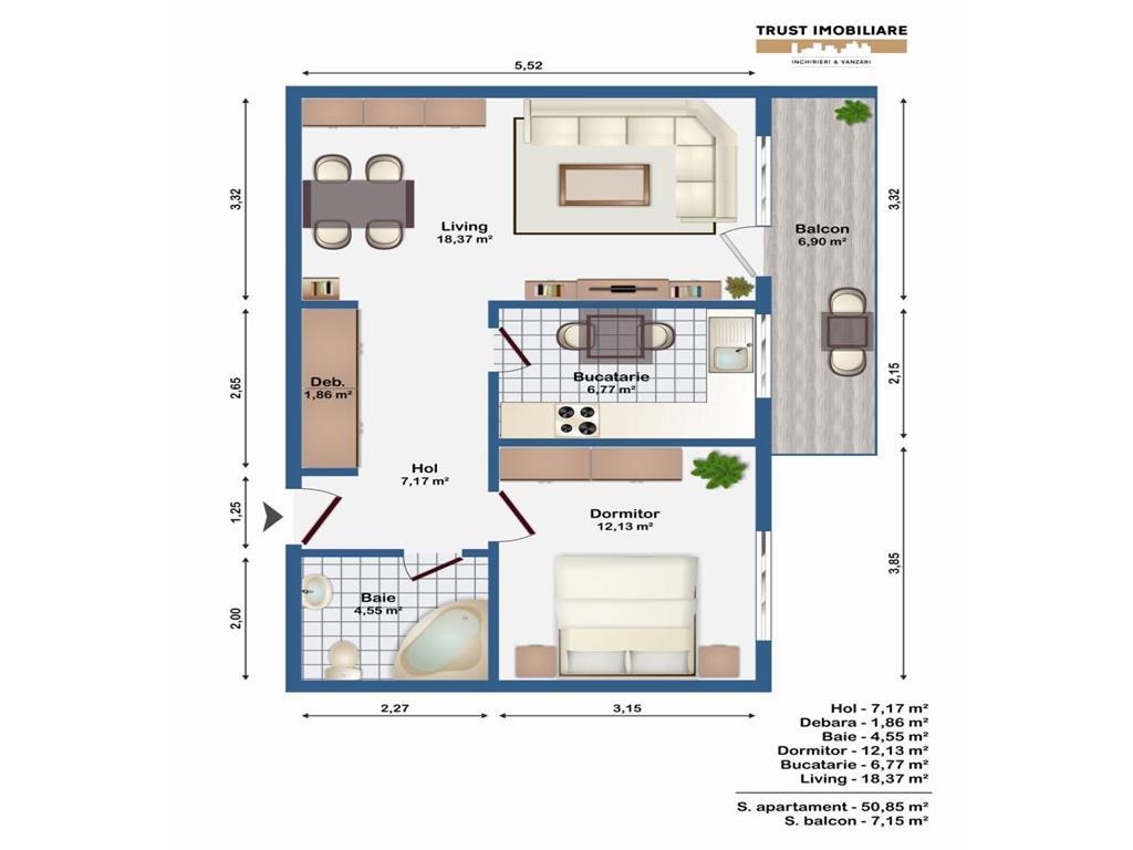 Apartament 1 camera, 35 mp, semifinisat,logie15 mp,garaj