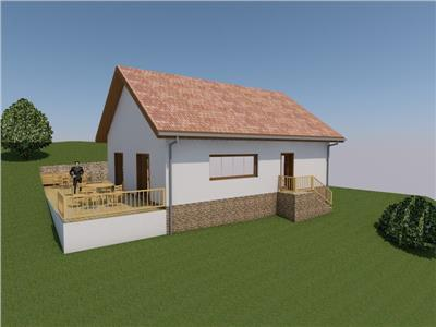 Casa individuala, Corpadea ,80 mp, terasa 20 mp, teren-700 mp, 2 parcari