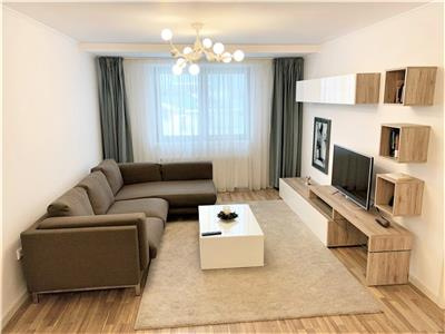 Apartament 3 camere, 85 mp,superfinisat/mobilat ,pod ,2 parcari