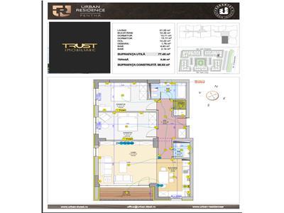 Apartament 3 camere,URBAN PENTHA,loc de parcare, boxa depozitare