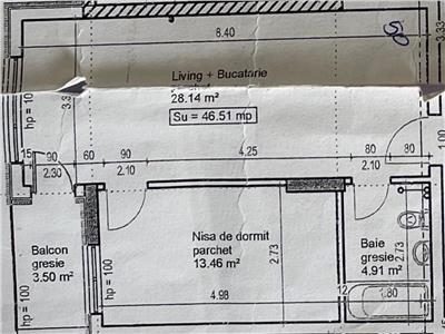 Apartament 2 camere, semifinisat, zona Vivo