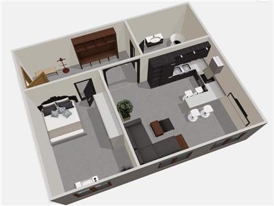 Apartament 2 camere, 50mp, parcare, zona Somesului, Floresti