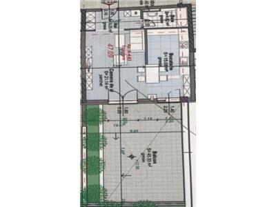 2 camere,Str.Anton Pann, bloc nou, 43 mp,terasa 36 mp,garaj